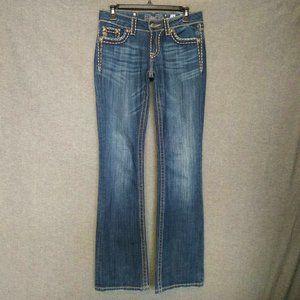 Miss Me Low Rise BootCut Jeans Size 28 L35